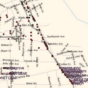 Wifi-netwerken in Sebastopol