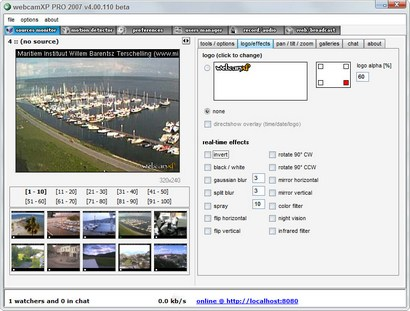 webcamXP Pro 2007 screenshot (410 pix)