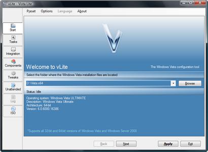 vLite screenshot (410 pix)