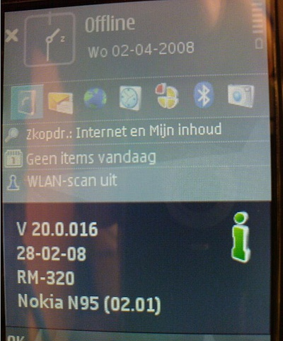Nokia N95 8GB 21.0.016
