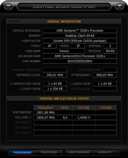 Central Brain Identifier 'Black Edition' screenshot