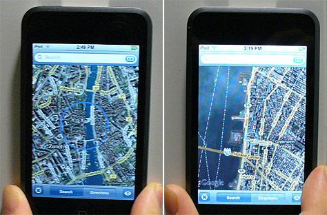 Gespoofte wps-navigatie op de iPod