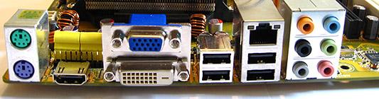Asus M3A78-EMH hdmi-moederbord close-up