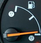 Lege benzinetank