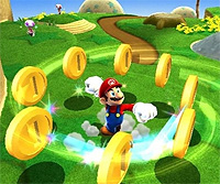 Mario met muntjes