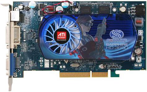 Sapphire Radeon HD3650 met agp-interface