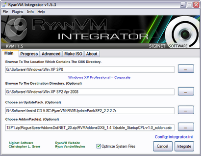 RyanVM's Post-SP2 Update Pack 2.2.2 in RVM Integrator 1.5.3 (410 pix)