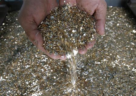Goud gewonnen uit afval
