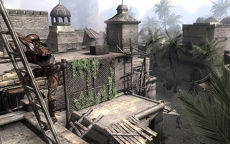 Two Worlds: The Temptation - het gebruiken van een ladder