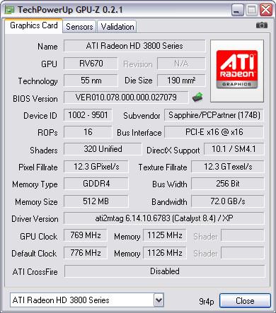 GPU-Z 0.2.1 screenshot