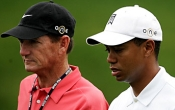 Tiger Woods en coach Hank Haney