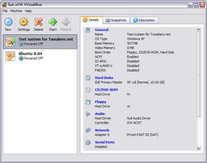 VirtualBox 1.6 screenshot (410 pix)