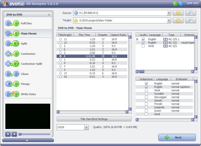 Software-update: DVDFab HD Decrypter 5 0 2 0 - Computer