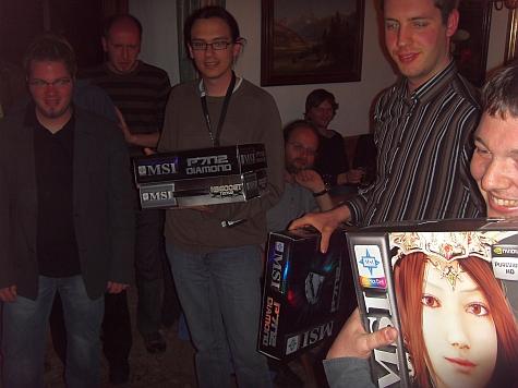 Overklokwedstrijd redacteuren prijsuitreiking