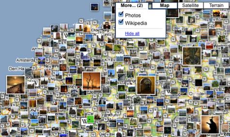 Google Maps + Wikipedia + Panoramio