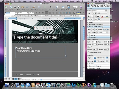 Microsoft Office 2008 for Mac - Word