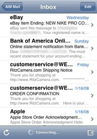 gereviseerde iPhone inbox