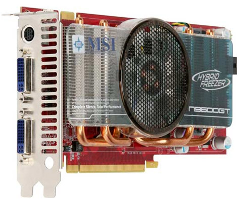 MSI N9600GT Hybrid Freezer