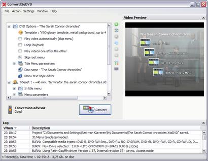 ConvertXtoDVD 3.1.0.18 screenshot (410 pix)