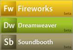 Dreamweaver, Fireworks en Soundbooth logo's