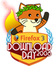 Firefox 3 Download Day 2008 logo