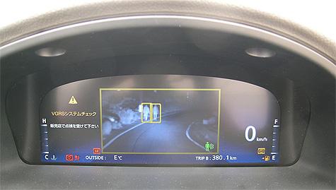 Night view van Toyota met voetgangersherkenning