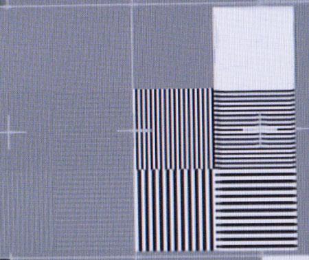 Sharp LC-46X20E Film resolution test