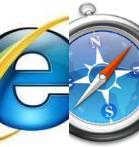 Safari en IE logo's