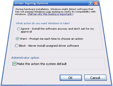 Driver signing in Windows Vista