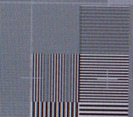 Pioneer Kuro 428XD Video resolution loss test