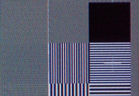 Pioneer Kuro 428XD Film resolution loss test