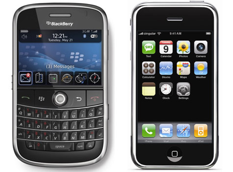 Blackberry Bold vs. Apple iPhone