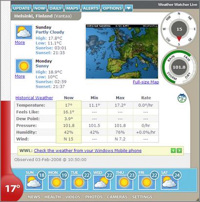 Weather Watcher Live 6.0 screenshot (410 pix)