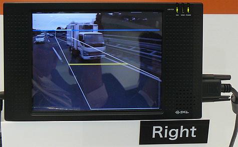 Lcd-scherm als rechterzijspiegel auto