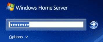 Windows Home Server loginscherm
