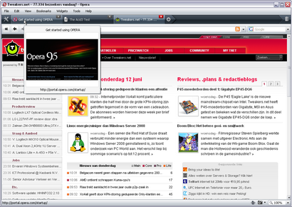 Opera 9.50 screenshot (410 pix)