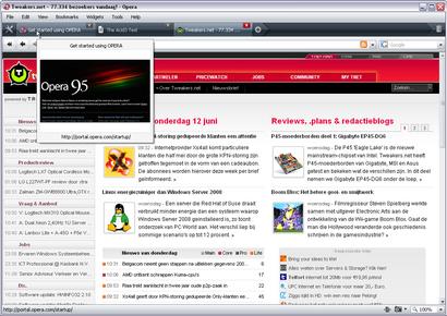 Opera 9.50 screenshot (410 pix)