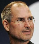 Steve Jobs rechtskijkend kleiner