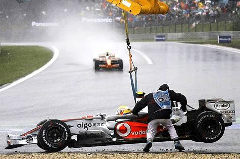 Gecrashte F1-auto