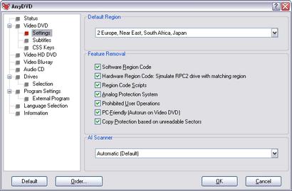 AnyDVD screenshot (410 pix)