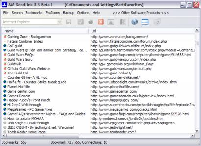AM-DeadLink 3.3 beta 1 screenshot (410 pix)