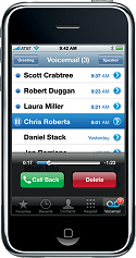 Visual voicemail op de iPhone