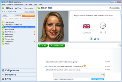 Skype for Windows 4.0 beta screenshot (410 pix)