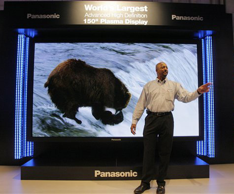 "150"" pdp-display van Panasonic"