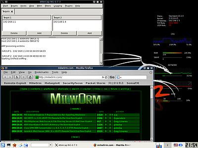 Backtrack 2 - Ettercap en Firefox