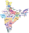 Landkaart India (klein)