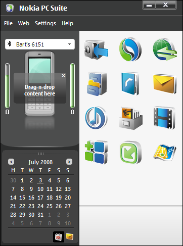 Nokia PC Suite 7.0.7.0 screenshot