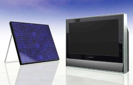 Sharp prototype tv met zonnecellen