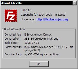 Filezilla 3.0.11.1