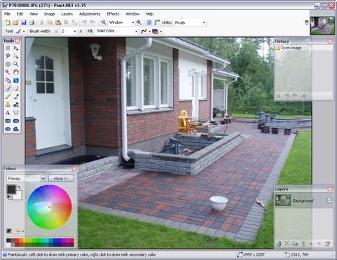 Paint.NET 3.35 screenshot (481 pix)